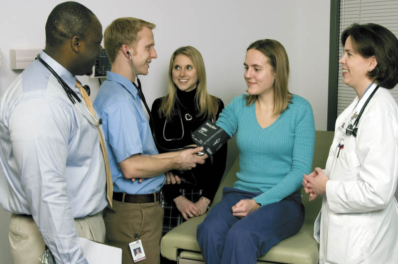 Dr. Brogan and others with patient