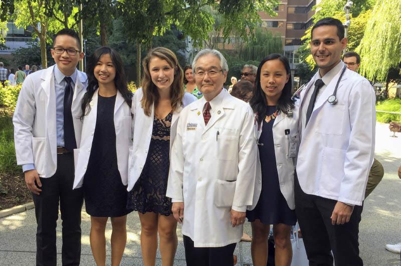 Dr. Yokoyama with residents